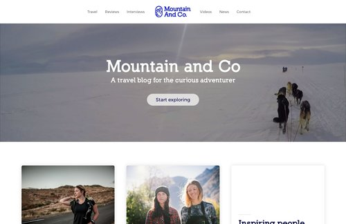 Mountain and Co website